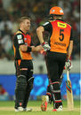 David Warner and Moises Henriques put on 103 in 7.1 overs, Sunrisers Hyderabad v Royal Challengers Bangalore, IPL 2015, Hyderabad, May 15, 2015