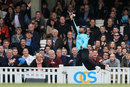Kumar Sangakkara leaps in vain for a catch, Surrey v Glamorgan, NatWest T20 Blast, South Group, Kia Oval, May 15, 2015