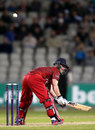 Alex Davies plays the scoop, Lancashire v Leicestershire, NatWest Blast, North Group, Old Trafford, May 15, 2015