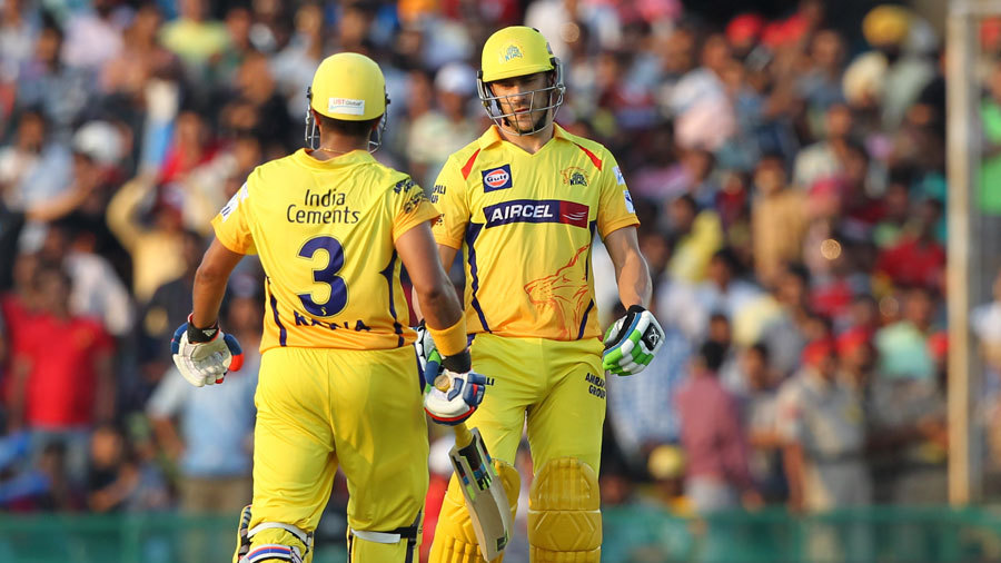 Suresh Raina and Faf du Plessis added 92 for the third wicket