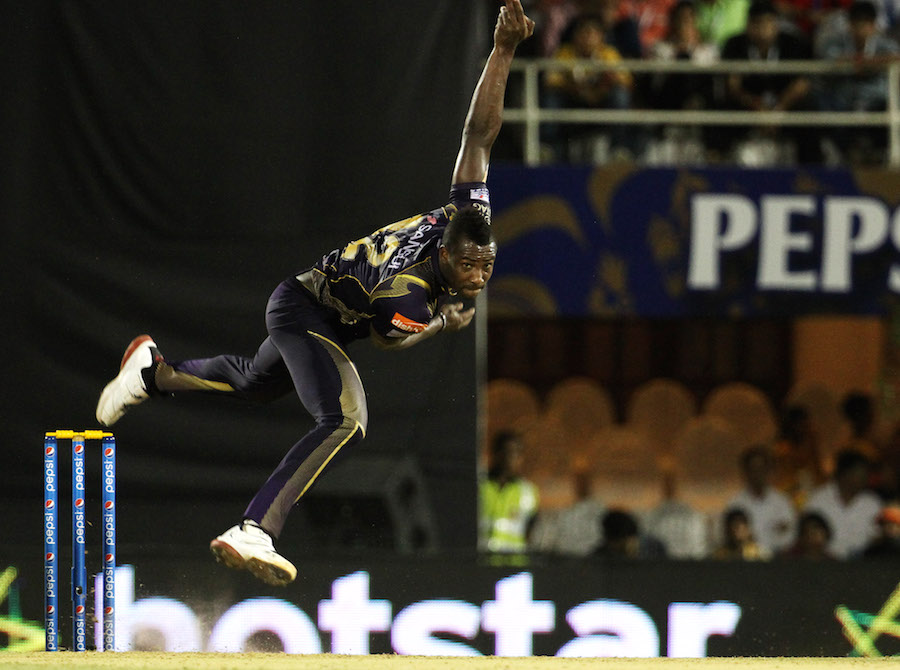 Andre Russell dragged them back further with three crucial middle order wickets
