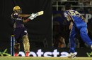 Yusuf Pathan muscles a pull shot during his innings, Rajasthan Royals v Kolkata Knight Riders, IPL 2015, Mumbai, May 16, 2015