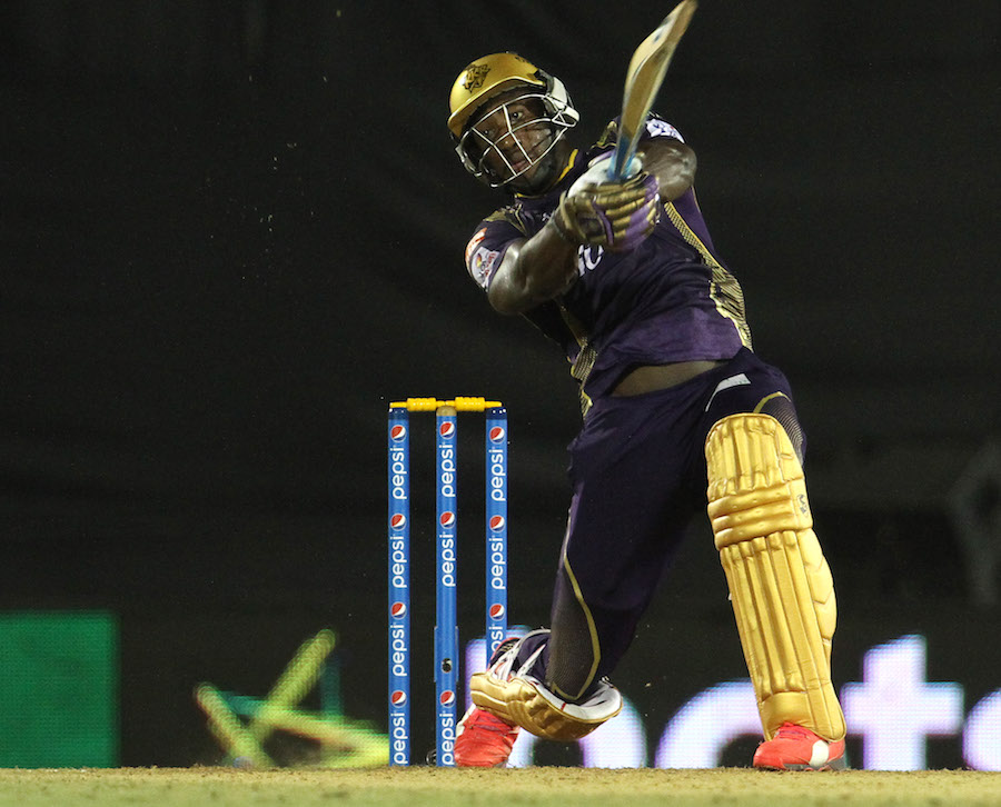Russell contributed 37 brisk runs to the 55-run, fourth-wicket partnership with Pathan, but their dismissals set Knight Riders back