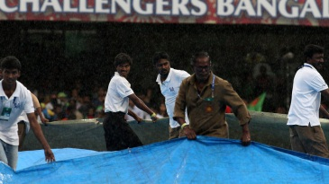 Rain interrupted Royal Challengers Bangalore's chase