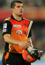 Moises Henriques could only contribute 11 to the team score, Sunrisers Hyderabad v Mumbai Indians, IPL 2015, Hyderabad, May 17, 2015