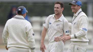 Matt Henry took the last three wickets to secure victory