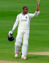 Keith Barker finished unbeaten on 102, Warwickshire v Durham, County Championship, Division One, Edgbaston, 2nd day, May 18, 2015