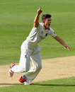 Richard Jones claimed two early wickets in Durham's innings, Warwickshire v Durham, County Championship, Division One, Edgbaston, 2nd day, May 18, 2015