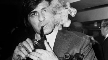 Fred Trueman was named Pipeman of the Year 1974