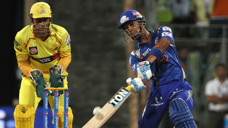 Mumbai Indians were off to a slow start after opting to bat, but Lendl Simmons cut loose with two sixes of R Ashwin and set the tone for further attack