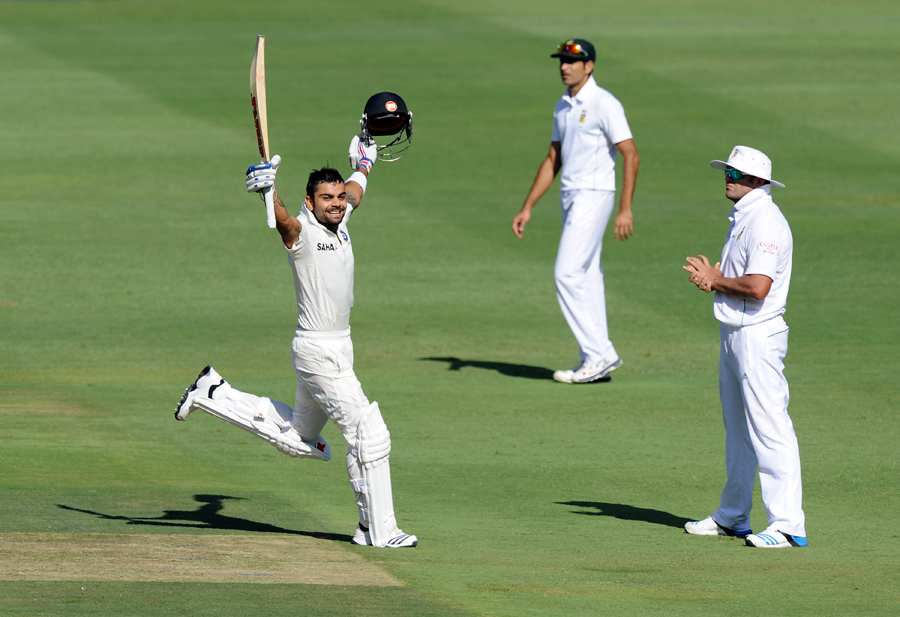 The power of visualisation: Kohli celebrates the hundred in Johannesburg in 2013