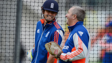 If you didn't laugh... Alastair Cook and Paul Farbrace share a joke