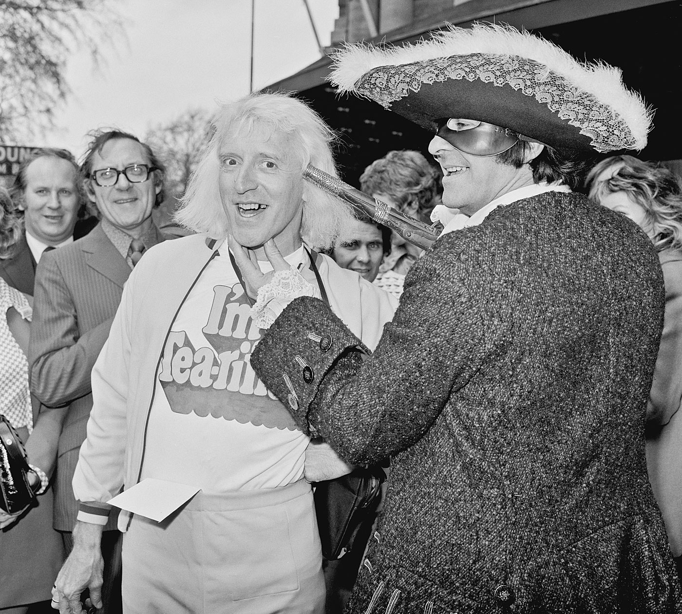 The Trueman Show: Fred with television presenter Jimmy Savile in 1973