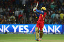 Chris Gayle lost his middle stump, Rajasthan Royals v Royal Challengers Bangalore, IPL 2015, Eliminator, Pune, May 20, 2015