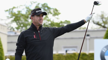 Kevin Pietersen takes part in a pro-am golf event