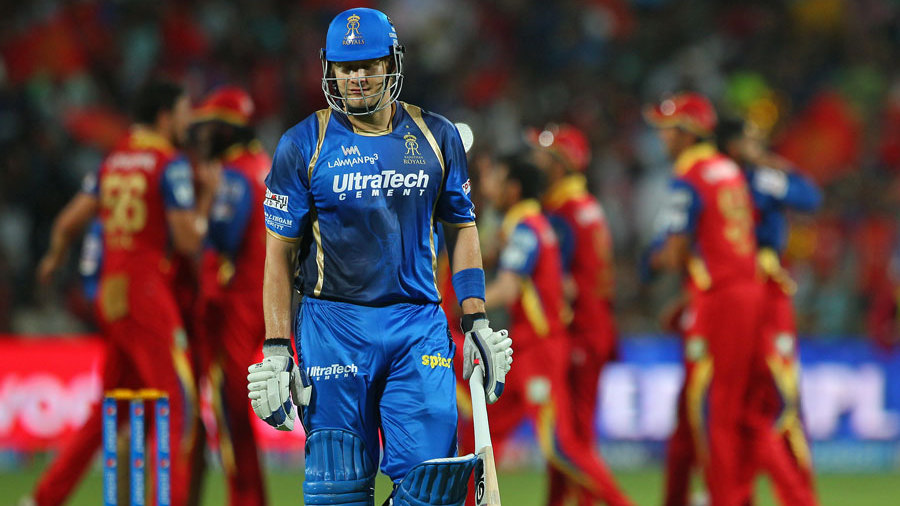 Royals suffered an early setback when Shane Watson was dismissed for 10