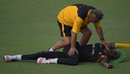 Dav Whatmore helps Chris Mpofu loosen up, Lahore, May 20, 2015