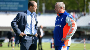Fancy a job? Andrew Strauss chats with England interim coach Paul Farbrace