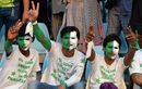Fans show their support before the start of the game, Pakistan v Zimbabwe, 1st T20, Lahore, May 22, 2015
