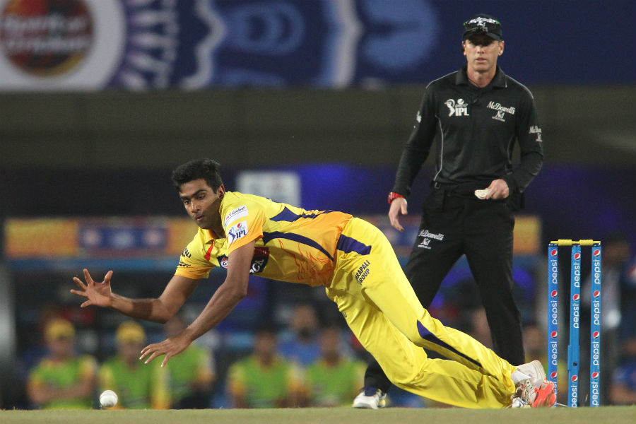 R Ashwin exploited the pitch efficiently, picking up the wicket of Mandeep Singh while keeping Gayle quiet
