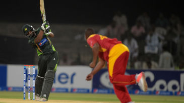 Mukhtar Ahmed hits over the top