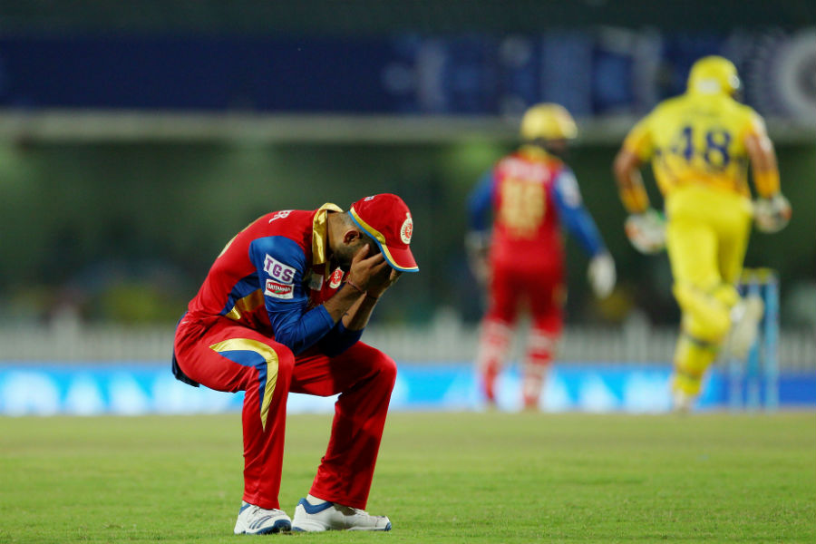 Royal Challengers, though, were sloppy on the field as they two dropped catches inside six overs