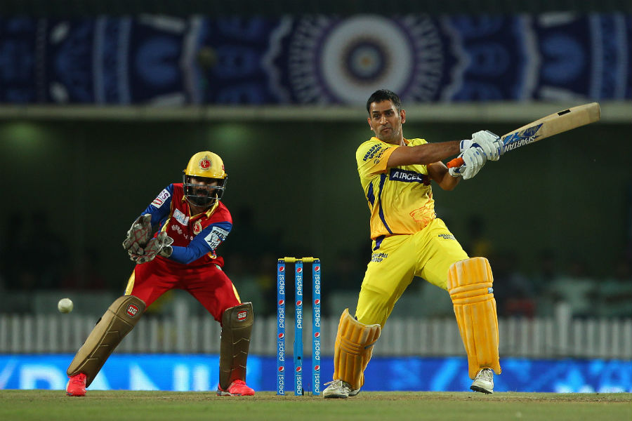 MS Dhoni pitched in with 26 off 29 balls and fell after levelling the scores.