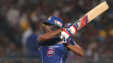 Rohit Sharma plays the upper-cut
