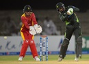 Mukhtar Ahmed blazed away to a second successive half-century in T20s, Pakistan v Zimbabwe, 2nd T20I, Lahore, May 24, 2015