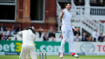 James Anderson removed Martin Guptill second ball