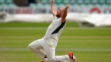 Joe Leach roars out in celebration