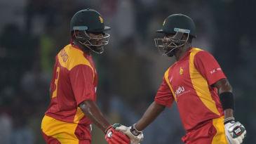 Hamilton Masakadza and Elton Chigumbura put on 124 runs for the third wicket