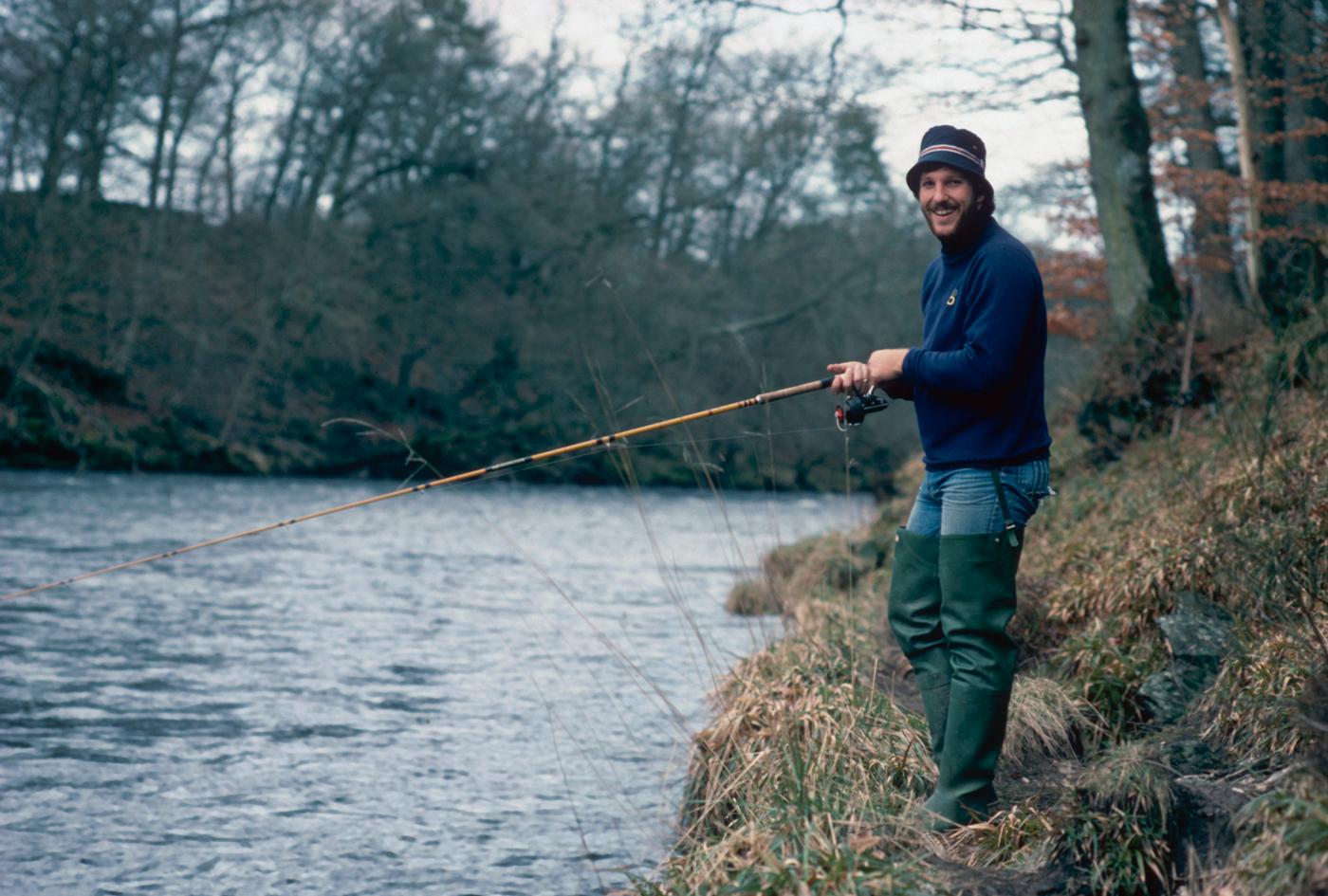 Ian Botham fishing