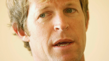 Jonty Rhodes speaks to the media