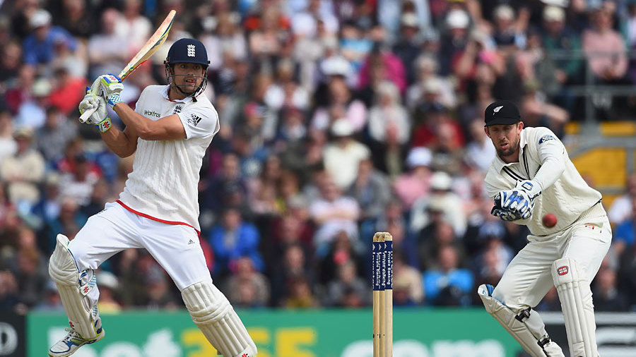 Alastair Cook scored plenty with the square cut...as so often