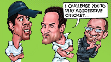 Cartoon: How to beat England in Test cricket