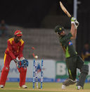 Hammad Azam is bowled by Graeme Cremer, Pakistan v Zimbabwe, 3rd ODI, Lahore, May 31, 2015