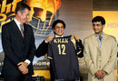 John Buchanan, Shah Rukh Khan and Sourav Ganguly unveil the Kolkata franchise's jersey, Indian Premier League, Kolkata, March 11, 2008