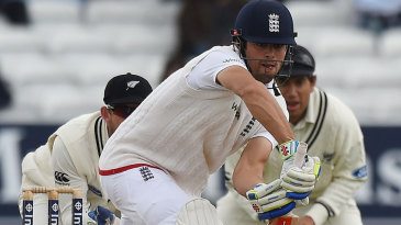 Alastair Cook battled through to lunch