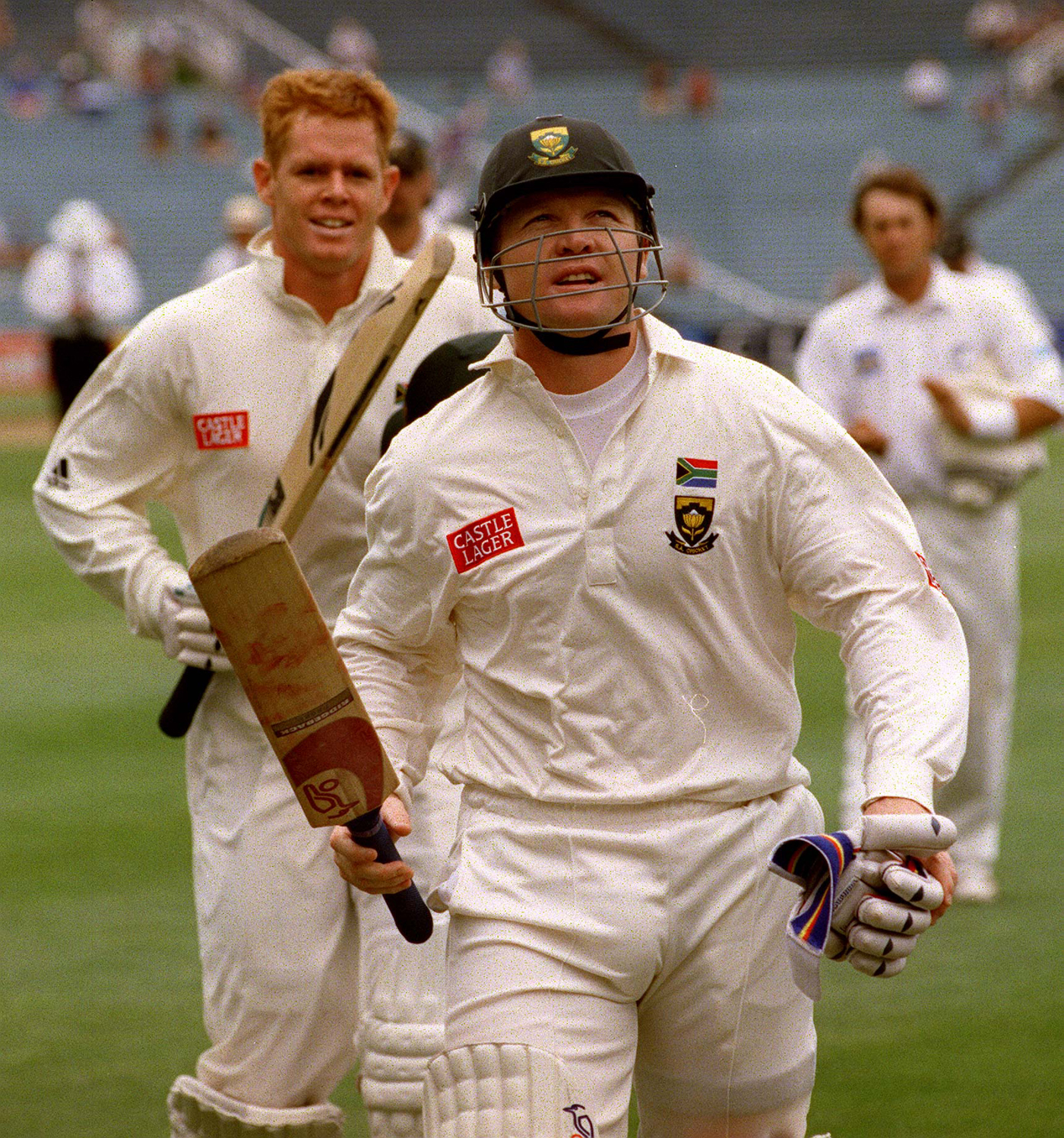 Polly who? Cullinan walks off the ground at Eden Park in 1999, having made 275, breaking Graeme Pollock's long-held South Africa record