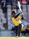 Owais Shah lifts one over the off side, Hampshire v Middlesex, NatWest T20 Blast South Group, Ageas Bowl, June 4, 2014