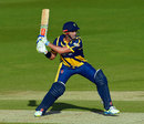 Jacques Rudolph lines up a reverse sweep, Glamorgan v Middlesex, NatWest T20 Blast South Group, Cardiff, June 5, 2015