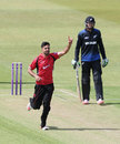 Atif Sheikh picked up Brendon McCullum in his second over, Leicestershire v New Zealanders, Tour match, Grace Road, June 6, 2015