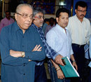 Jagmohan Dalmiya and Sachin Tendulkar after the BCCI advisory committee meeting, Kolkata, June 6, 2015