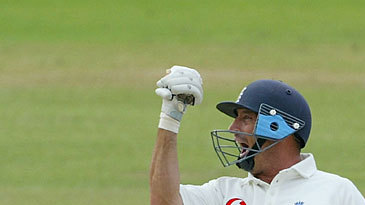 Nasser Hussain celebrates his century at Lord's
