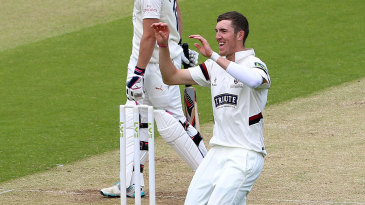 Craig Overton took three wickets to put Somerset well on top
