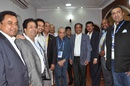 Top BCCI officials with Haroon Lorgat and Mustafa Kamal at the IPL final, May 24, 2015