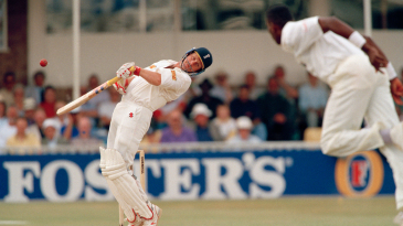 Robin Smith avoids a short ball