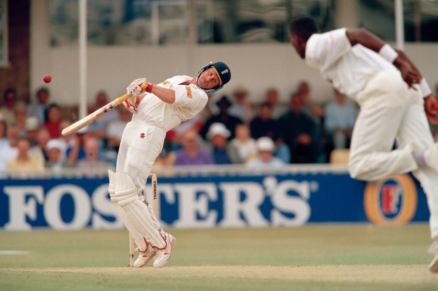 Robin Smith avoids a short ball