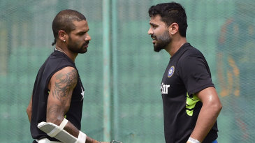Open session: M Vijay and Shikhar Dhawan have a chat